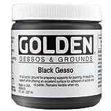Golden Acrylic Gessos Black 236 ML