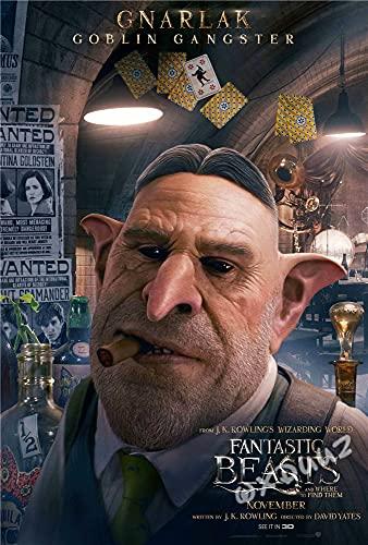 hengyuanxiang Popolari Serie TV di Avventura Fantasy Animali Fantastici E Dove Trovarli Famiglia Decorazione della Parete di Arte Poster Materiale su