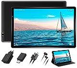Tablette 10 Pouces HD Tablettes Tactile Android 10 Pro FACETEL Octa-Core Ultra-Rapide 4 Go RAM+64 Go ROM(MicroSD 4-128 Go) Écran HD 1280 * 800 IPS, Certifié par Google GMS, WiFi, Bluetooth 4.0 - Noir