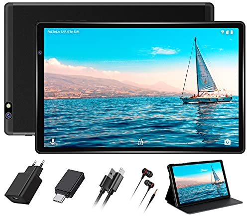 FACETEL Tablet 10 Pollici Android 10.0 Tablets con 4GB RAM 64GB ROM, WiFi Tablet PC con Doppia Fotocamera(5MP+8MP), 128GB MicroSD Espandibile, 8000mAh, Bluetooth