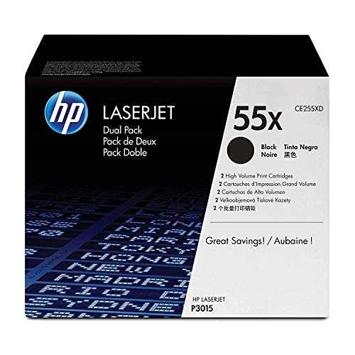 HP 55X CE255XD Confezione da 2 Cartucce Toner ad Elevata Capacità, Compatibile con Stampanti LaserJet