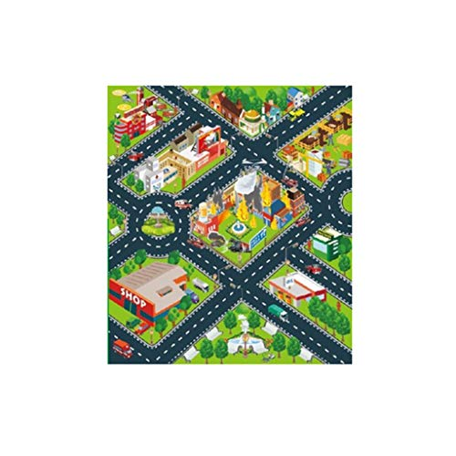 Goosuny Länglich Spielteppich Für Kinderzimmer Kinderteppich Straßenteppich Spielmatte Kinderzimmer Teppich Babyteppich Kuscheldecken Deko Wohnkultur