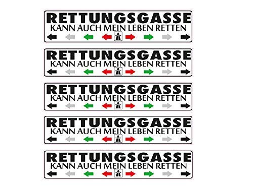 NetSpares 119587454 1 x Aufkleber Rettungsgasse Kann auch Mein Leben Retten Sticker Shocker Tuning