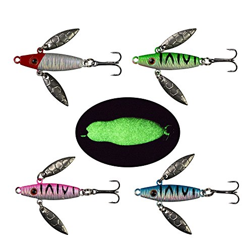 Ice Fishing Jigs with Treble Hooks Lead Jig Hooks Winter...