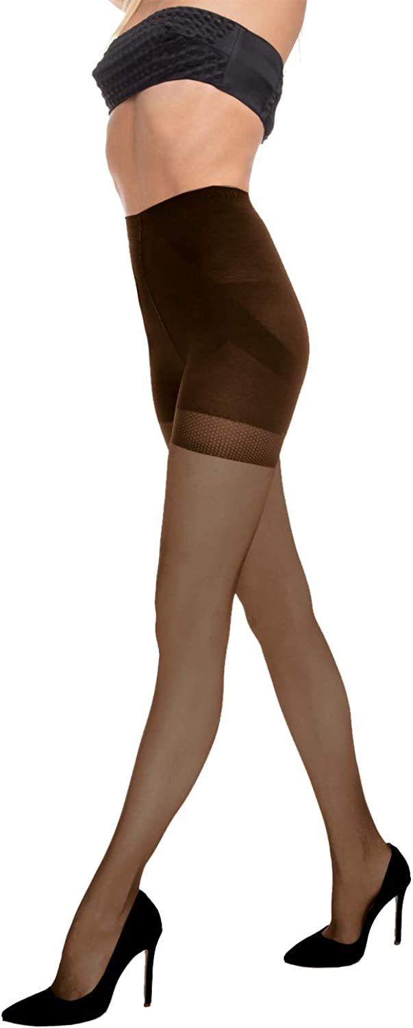 INTUICIA Tights for Women Plus Size Womens Pantyhose High Waist Tummy Control Top Panties 40 Den