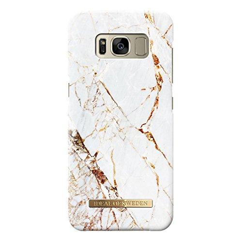 iDeal Of Sweden Handyhülle für Galaxy S8 (Mikrofaserfutter, Qi Wireless Charger Kompatibel) (Carrara Gold)