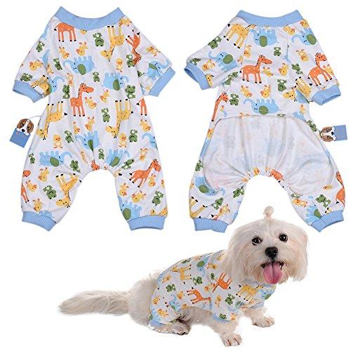 Per Animaux Chien/Chiot/Chihuahua Pyjama avec Mignonne Motif Animal et Quatre Pieds Conception pour Les Moyennes et Petits Chiens - XS/S/M/L/XL