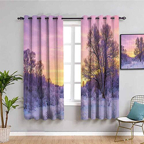 Isolierter Vorhang mit Sonnenuntergang...