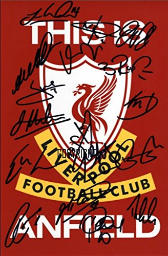 THEPRINTSHOP Liverpool 2015/16 Squad signiertes Foto mit Zertifikat und Autogramm