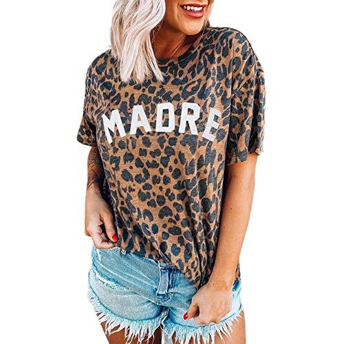MedusaABCZeus Atmungsaktives Tank T-Shirt,Damenoberteil, bedrucktes Kurzarm-T-Shirt mit Rundhalsausschnitt-bräunen_XL,Herren Shirt Uv Schutz