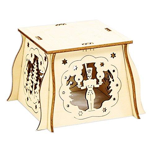 Chandelier Soucoupe à assembler soi-même en bois env. 7 x 10 x 10 cm Engel / Bergmann