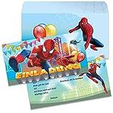 Einladungskarten Der ultimative Spiderman Einladungen Kindergeburtstag(8 Karten + 8 Umschlägen)
