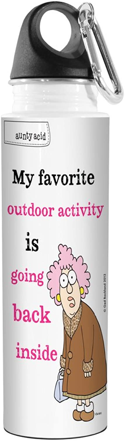 TreeFree Greetings VB47810 Aunty Acid Artful Traveler Stainless Steel Water Bottle, 18Ounce, Outdoor Activity