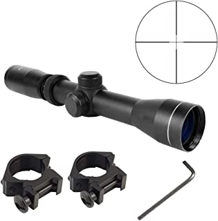 Persei Long Eye Relief 2-7x32 Duplex Reticle Scope Fits Pistol and Mosin Nagant 1891/30 M39 LER Scope with Picatinny 1913 Ring Mounts