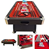 BILLARD AMERICAIN 250cm 8ft mesure 220 x 110 cm Modele Vintage Red table de pool Snooker meuble salon table de billard NEUF