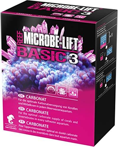 MICROBE-LIFT Basic 3 - Carbonate KH - (Qualitäts-Carbonatzusatz für jedes Meerwasser Aquarium, Pulverform, auch verwenbar für die Balling-Methode, Korallen Versorgung) 1000 g.