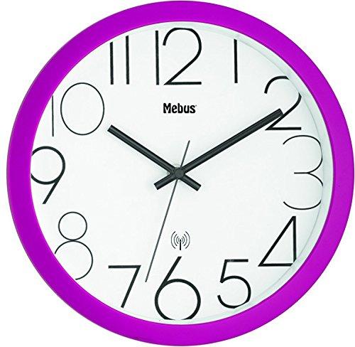 Mebus Wanduhr/Analog/Farbe Pink/Modell: 52766