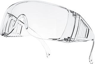 ゴーグル 保護メガネ 花粉症対策 防曇 防塵 防風 曇り止め 破片対応 アウトドア/作業用 一眼型 軽量 透明 安全ゴーグル