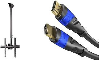 Hama TV Deckenhalterung Schwenkbar, Neigbar (Decken Halterung höhenverstellbar, Fernsehhalterung 32   65 Zoll) schwarz & KabelDirekt   4K HDMI Kabel   20m   kompatibel mit (HDMI 2.0a/b 2.0, 1.4a)