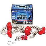 Slackers SLSLA791 Ninja-Seil mit Fußstütze, Unisex, Kinder, Rot/Braun