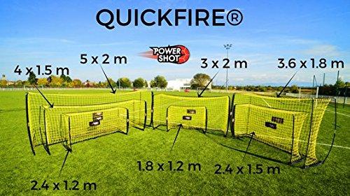 POWERSHOT Fußballtor QuickFire® in 7 verschiedenen Größen - WETTERFEST - 2 MIN AUFBAUZEIT - Innovation (5 x 2m)