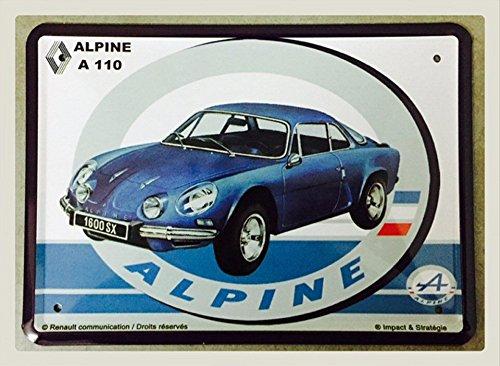 Plaque Metal 20X15cm Alpine Renault A110 1600 SX