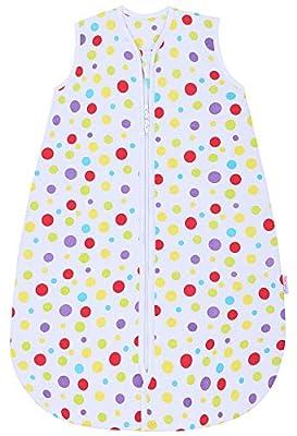 Saco de dormir Snoozebag Spots para bebé, 100% algodón, unisex, 2,5tog, multicolor