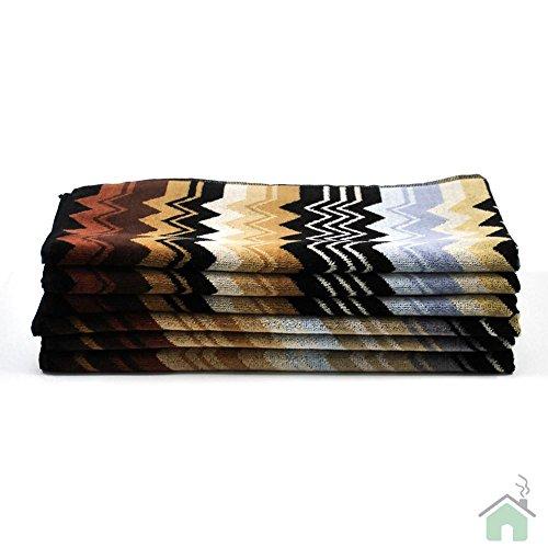 Missoni Giacomo 160Toalla Dimensiones 100x 150cm zigzag Diseño de Onda