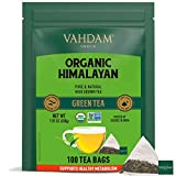 VAHDAM, Tè Verde Biologico in Foglie dell'Himalaya (100 Bustine di Tè), 100% Tè Naturale per Aiutarti a Perdere Peso, Tè Detox RICCO DI ANTIOSSIDANTI - Tè Detox in Foglie - Da Bere Caldo o Freddo