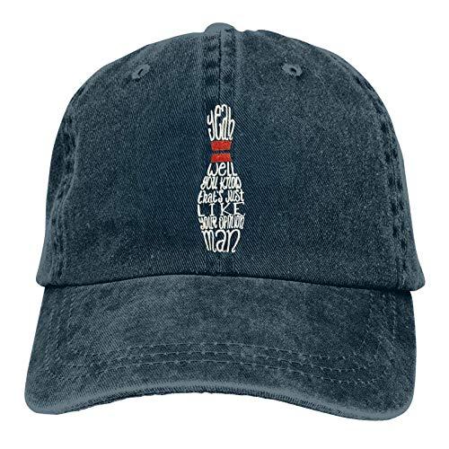 Lsjuee Big Lebowski Gorra de Mezclilla Deportiva ajustableCasquettes Unisex PlainCowboy Hat Negro