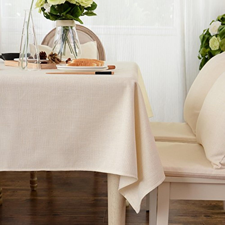Hillhead Tela de algodón y Lino Mantel Moderno Minimalista Mantel pao de Tabla Mesa de café Mantel Mantel rojoondo Mantel Rectangular Color   Off blanco, Talla   Chajibu(110  160cm)