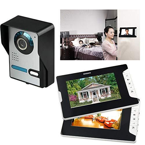 Videoportero automático de 2 vías, cámara de 7 pulgadas con visión nocturna, estación de puerta para 1 casa familiar, videoportero, sistema de intercomunicación, IP65