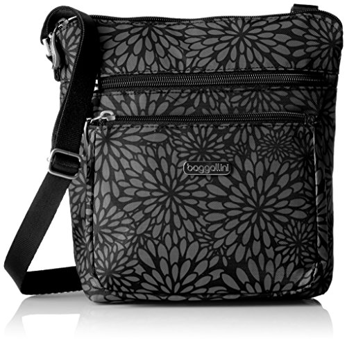 Baggallini Pocket Crossbody Bag With RFID-Protected Wristlet, Midnight Floral