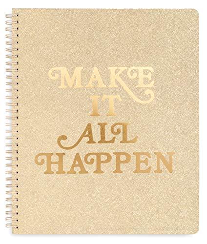 ban.do Grobes Spiral-Notizbuch, 27,9 x 22,9 cm, mit Taschen und 160 linierten Seiten L Machen Sie alles Happen.