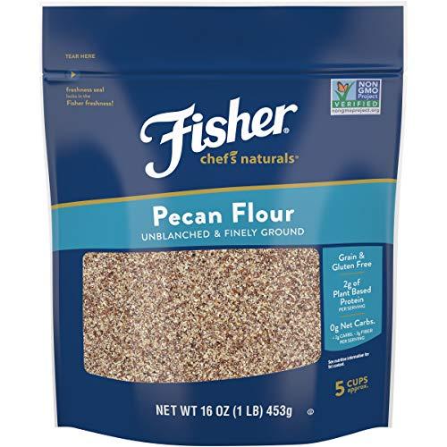 Fisher Chef's Naturals Pecan Flour, 16 Ounces, Naturally Gluten Free, No Preservatives, Non-GMO
