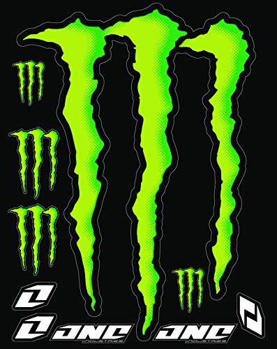 KIT STICKERS ADESIVI MONSTER SPONSOR MOTO COMPATIBILI PER KTM HONDA YAMAHA KTM CROSS ENDURO CASCO (46)