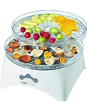 Clatronic DR 3525 Dörraautomat (300 watt, torr frukt, grönsaker, örter, kött och mer, 5 stapelbara nivåer, 2 temperaturnivåer) vit