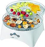 Clatronic DR 3525 droogautomaat (300 Watt, droogt fruit, groenten, kruiden, vlees en meer, 5 stapelbare niveaus, 2 temperatuurniveaus) wit