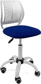 Chaise de Bureau Enfant - Junior SAWI (Blanc & Bleu)