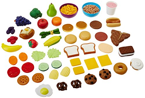 Learning Resources New Sprouts Complete Play Food Set, 50 Pieces,Assorted