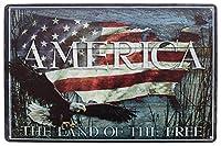 アメリカ無料ビンテージメタルサインの土地