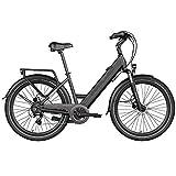 Legend Milano Bicicleta Eléctrica Urbana Smart eBike Ruedas de 26 Pulgadas, Frenos de Disco...