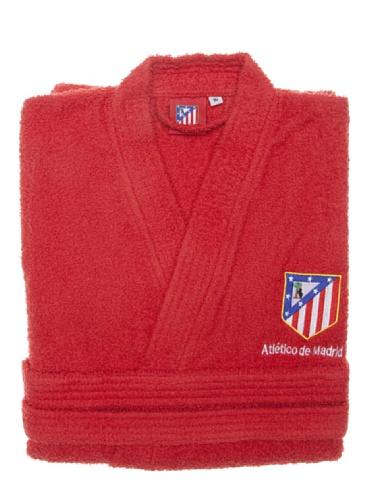 Atlético de Madrid Albornoz Escudo Bordado Rojo M