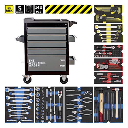 Werkstattwagen bestückt mit 6 Modulen | 5 Schubladen | No.143 | stabile Stahlblechkonstruktion | WGB
