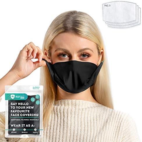 Trtl Protect Face Mask Machine Washable Breathable Adjustable and Sustainable Black Face Mask product image