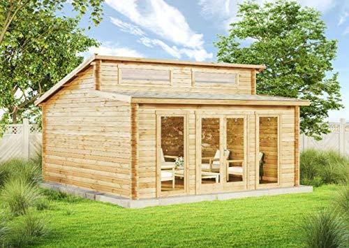 CARLSSON Alpholz Gartenhaus Holz groß Narvig-B aus...