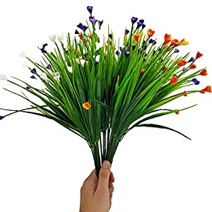 Brands Flores de Cala Artificial,Planta Falsa,Ramo de Tulipanes Artificiales 6PCS Ramos de Seda de Tallo Largo para…
