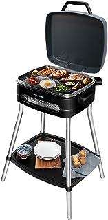 Cecotec Barbacoa eléctrica PerfectCountry BBQ con 2000 W de Potencia y Revestimiento RockStone (con Patas PowerGrill)