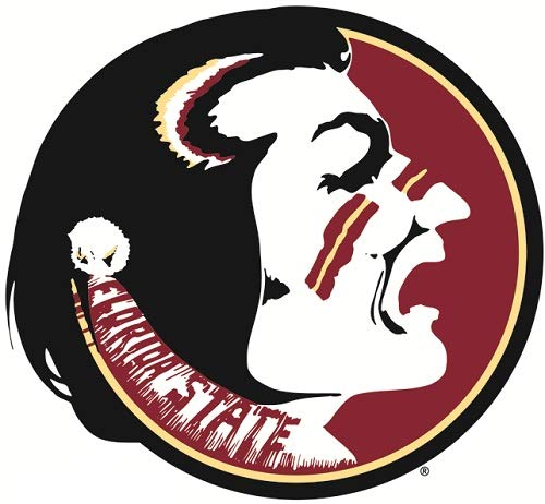 WiggleWalls 3 Inch FSU Osceola Logo Decal Florida State University Seminoles Noles FS FL Removable Wall Sticker Art NCAA Home Room Decor 3 1/2 by 3 Inches