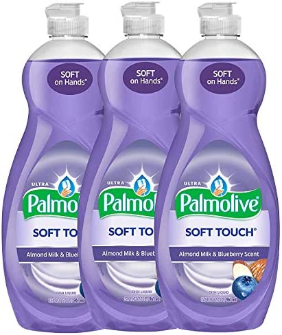 Palmolive Ultra Soft Touch Almond Milk Blueberry Liquid Dish Soap Soft Touch on Hands Tough product image